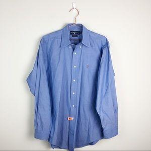 Ralph Lauren Blue Yarmouth Classics Pinpoint Shirt